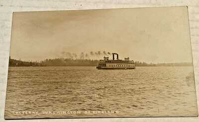 Puget Sound WA  RPPC The Ferry Washington of Kirkland c1915