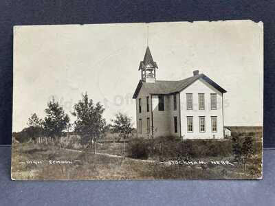 Stockham, Nebraska-High School c1910-Rare View RPPC Real Photo Postcard