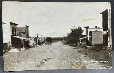 Stockham, Nebraska-Main Street Scene c1910-Rare View RPPC Real Photo Postcard