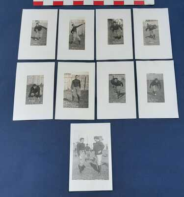 RPPC  9 Vintage Postcards  1913-1914  MAC  Football Player Cards MSU E. Lansing