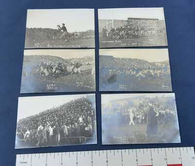 RPPC  6 Vintage Postcards of 1913  MAC vs. U of M Football Game – MSU E. Lansi