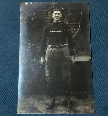 RPPC Vintage Postcard from 1913 - Hugh Blacklock MAC Football – MSU East Lansi