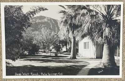 PALM SPRINGS CALIFORNIA DEEP WELLS RANCH VINTAGE WILLARD REAL PHOTO POSTCARD