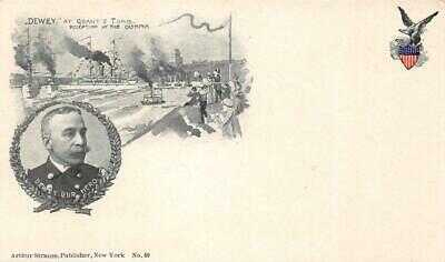 Admiral Dewey Grant's Tomb Olympia Spanish American War 1899 Vintage Postcard
