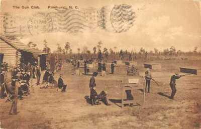 Pinehurst North Carolina The Gun Club Vintage Postcard AA43663