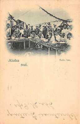 Hawaii Aloha Nui 1897 Native Luau Dinner Scene Vintage Postcard AA45053