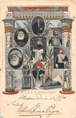Egypt Khedives Rulers  Political Vintage Postcard AA45088