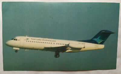 Airline Issue - GARUDA Fokker-28-Aviation Airline Postcard