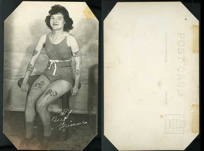 Great Tattoo Postcard of Tattooed Betty