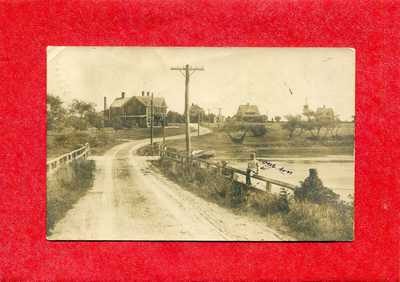 DUXBURY MA VINTAGE 1909 REAL PHOTO CARD POSTCARD OF EAGLES NEST AREA