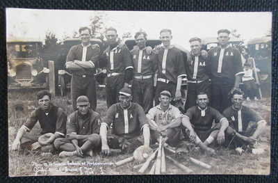 Mio Michigan Baseball Team, Winning Game Day RPPC against Roscommon 7 to 2