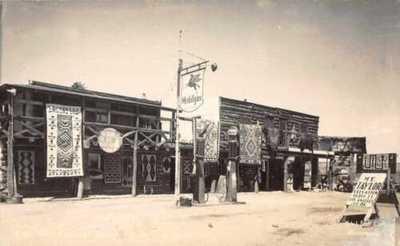 Albuquerque New Mexico SW Postcard Co Mobilgas Station Real Photo PC JJ650985
