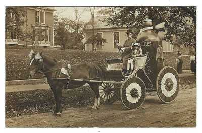 RPPC Unusual 1911 Moxie Bottle and Ad Horse Drawn Wagon Rouell Newfield NH Photo
