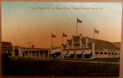 "Rehoboth Beach Delaware ""Horns Roller rink & Motion picture theatre rare scarce~"