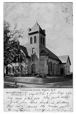 1907 HICKORY NC Presbyterian Church Postcard