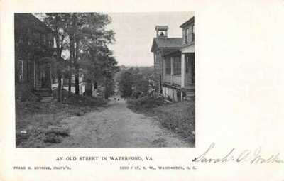 Waterford Virginia Old Street Scene Vintage Postcard AA2654