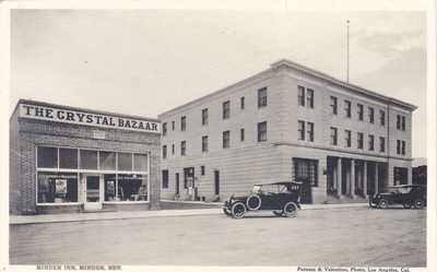 "MINDEN NEVADA - ""THE CRYSTAL BAZAAR"" -1920's DOWNTOWN REAL PHOTO POSTCARD"