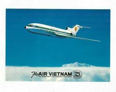 AIR VIETNAM ISSUED 727 POSTCARD