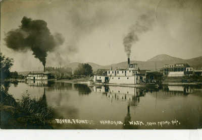 RPPC Paddle Steamers Riverfront OKANOGAN, WA  near OMAK Frank Matsura Photo