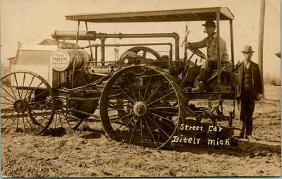 RPPC ~ GREAT WESTERN FARM TRACTOR ~ CHICAGO IL ~ SMITH MFG  ~ BITELY MI      18B