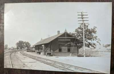 RPPC Koshkonong Missouri MO Oregon County Railroad Depot Station Postcard