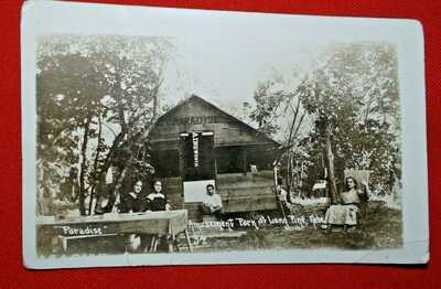 "1914 RPPC Long Pine, Nebraska - ""Paradise"" cottage - WOB & posted - Very Good"
