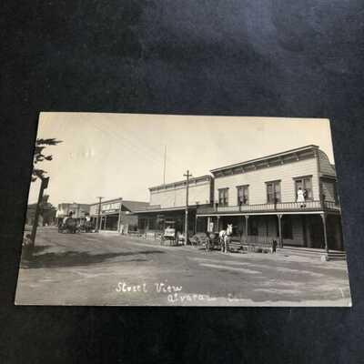 ALVARADO California STREET SCENE Real Photo Postcard RPPC Alameda Co. NO RESERVE