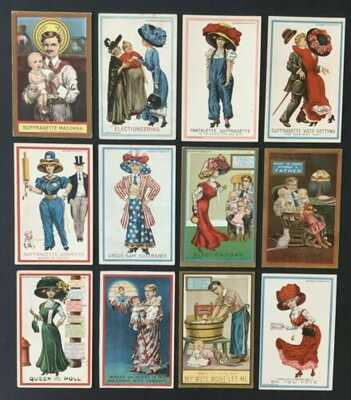 """Suffragette Series"" Postcards (#1-12)By Dunston-Weiler Litho Co.-Desirable Set!"