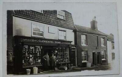 Wymondham Fairland St. early postcard SHOP CLEMENTS & Sons  RP postcard unused