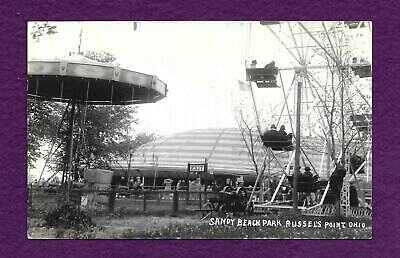 RPPC SANDY BEACH PARK AMUSEMENT CENTER RUSSELLS POINT OHIO FERRIS WHEEL SWINGS