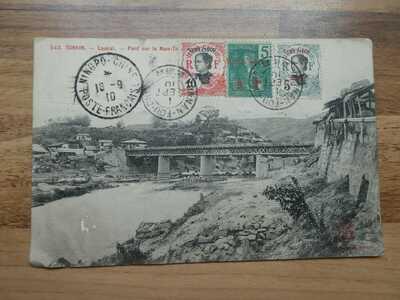 1910 Posted Postcard of Tonkin, Viet Nam - China Postmarks - Ning Po  Yunnan Fou