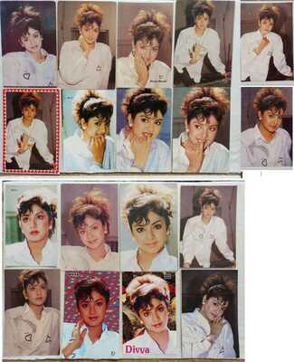 Bollywood actress -  Divya Bharti Bharati - Lot 18 Rare postcards post cards