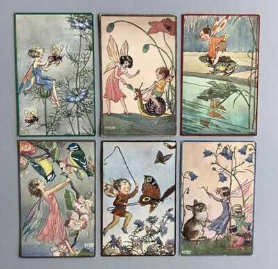 Vintage Fantasy Postcards (6) Faulkner Series 1984~Fairies, A/S Molly Brett