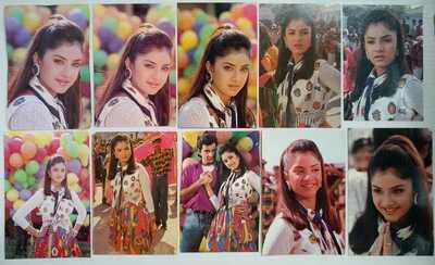 Bollywood actors Divya Bharti Bharati Sanjay Kapoor Lot 9 Rare postcards 1 photo