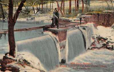 Rock Castle Virginia Mill Dam Belmead St. Emma W.E. Burgess Postcard AA22803