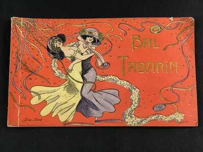 Xavier Sager Risque Postcard Book, 1910s Topless Burlesque Dancers Bal Tabarin