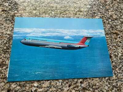 Bahamas Airways BAC 1-11 flamingo jet colors inflight airline issued postcard