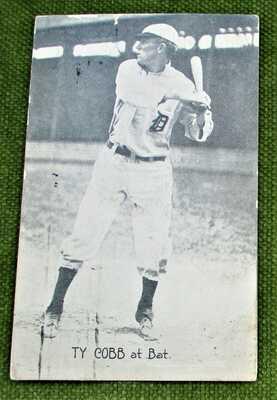 "Original postmark 1914 Photographic postcard ""Ty Cobb at Bat"""