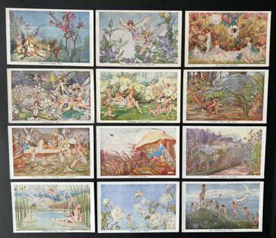 Vintage Fantasy Fairy Postcards (12) A/S Constance Symonds ~ Series 1957,1958