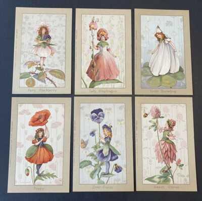 Fantasy Flower Fairy Postcards ~ Set of 6 ~ A/S Margaret Tarrant ~ Faulkner #923