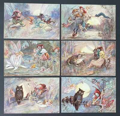 "Vintage Fantasy Fairy Postcards ~ Set of 6~A/S Maybank ~ Tuck ""Midsummer Dreams"""