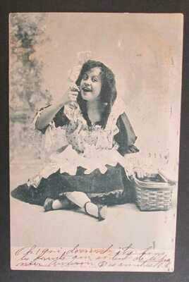 Anna Laughlin First to Play Dorothy Wizard of Oz Unposted DB Postcard