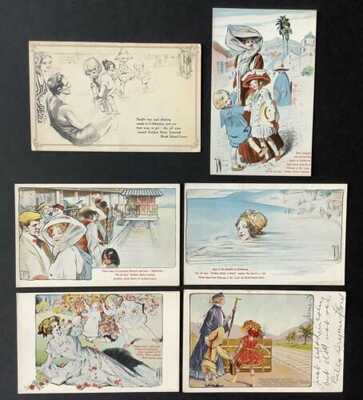 Vintage Advertising Postcards (6) Rock Island Lines~ A/S Rose O'Neill