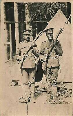 Rare WW1 soldier group Black soldiers serving with the Canadian Infantry CEF