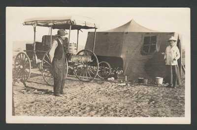 RPPC Postcard Hopi Pueblo Third Mesa Camp at Oraibi Guide & L.E.W. Lucy Williams