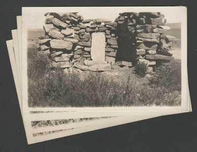 4 RPPC Postcards Zuni NM War Gods Shrine Center of the Earth on Thunder Mountain