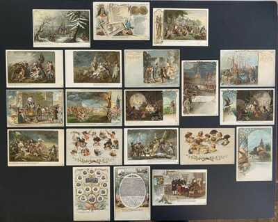 """""""Colonial Heroes"""" ~ Vintage Private Mailing Postcards (40) Complete Series!"""