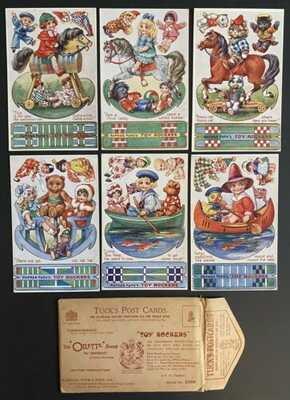 """Vintage Tuck """"Toy Rockers"""" Postcards (6) Series 3399 ~ Cut-Out Rockers, Dolls"""