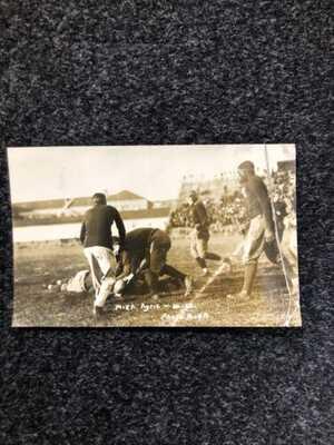 RARE RPPC POSTCARD 1913 Michigan State/Wisconsin Football, Gideon Smith1st Black