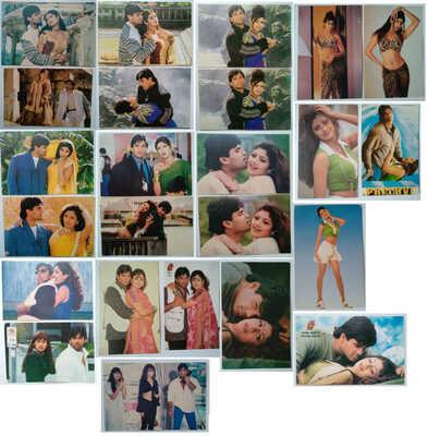Bollywood actors: Shilpa Shetty & Suniel Shetty Lot 24 Rare postcards post cards